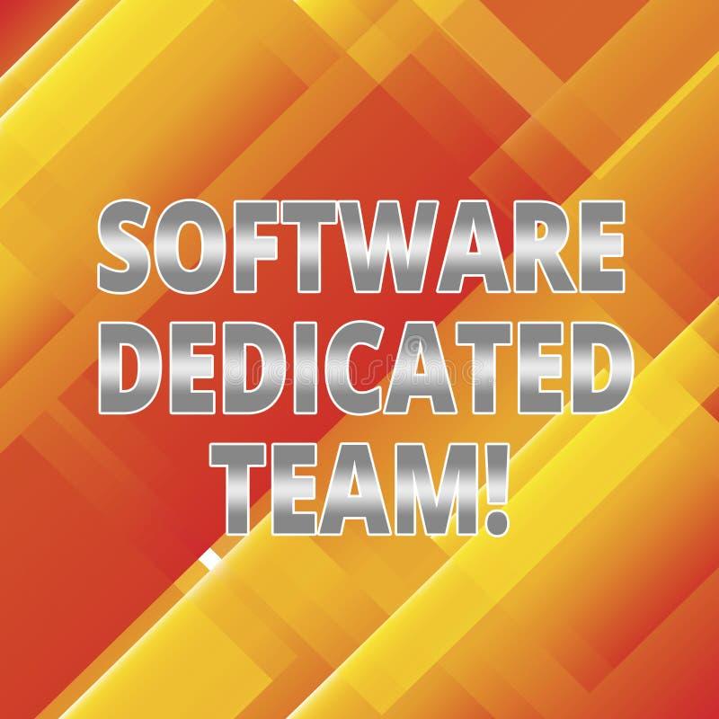 Word schrijvend tekstsoftware Specifiek Team Bedrijfsconcept voor bedrijfsbenadering van app en Webontwikkeling het Hellen royalty-vrije illustratie