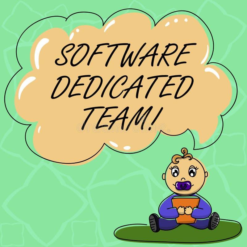 Word schrijvend tekstsoftware Specifiek Team Bedrijfsconcept voor bedrijfsbenadering van app en Webontwikkelingsbaby stock illustratie