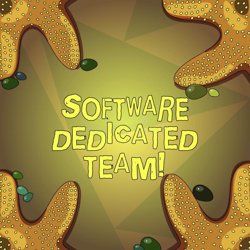Word schrijvend tekstsoftware Specifiek Team Bedrijfsconcept voor bedrijfsbenadering van app en Webontwikkelingszeester royalty-vrije illustratie