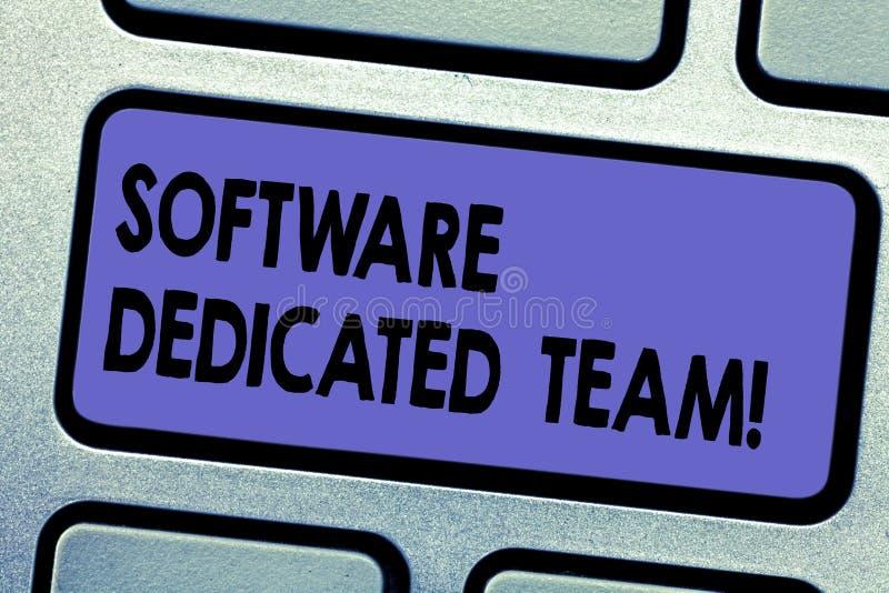 Word schrijvend tekstsoftware Specifiek Team E royalty-vrije illustratie