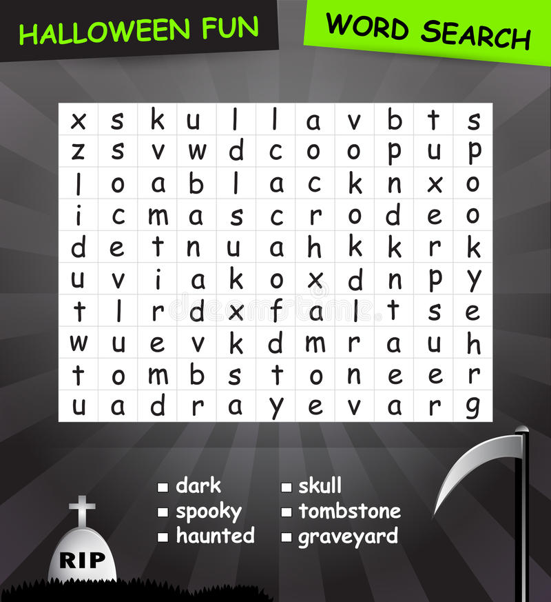 Download Word search game stock illustration. Image of find, halloween - 34357017