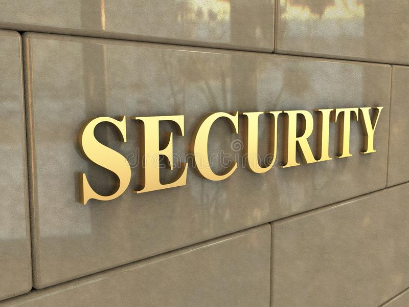 Word Security royalty free stock photo