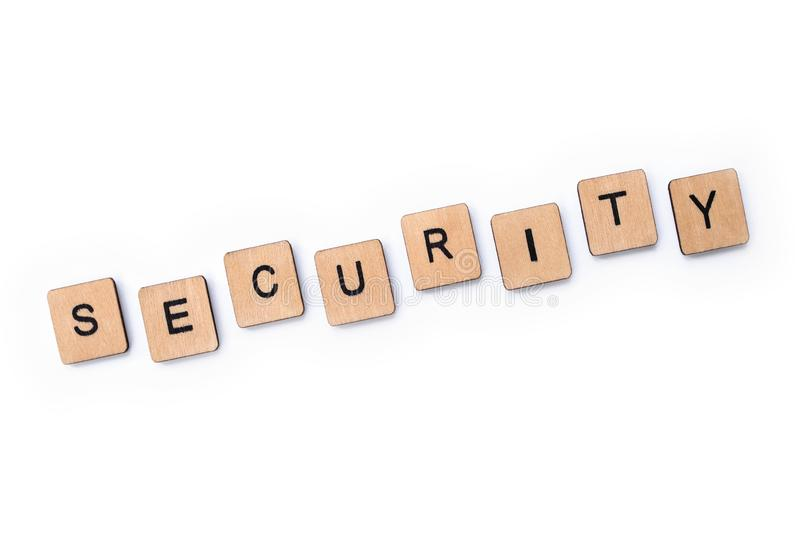 The word SECURITY royalty free stock images