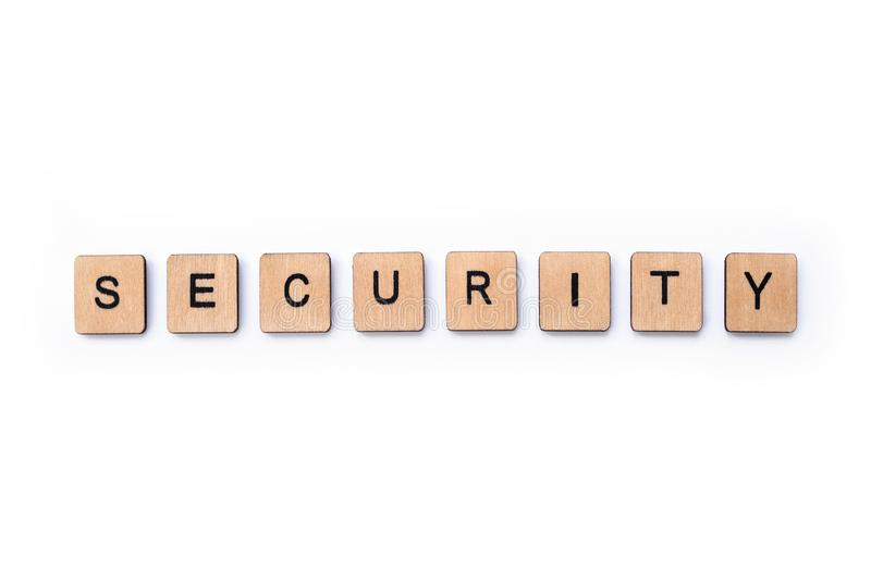 The word SECURITY stock images
