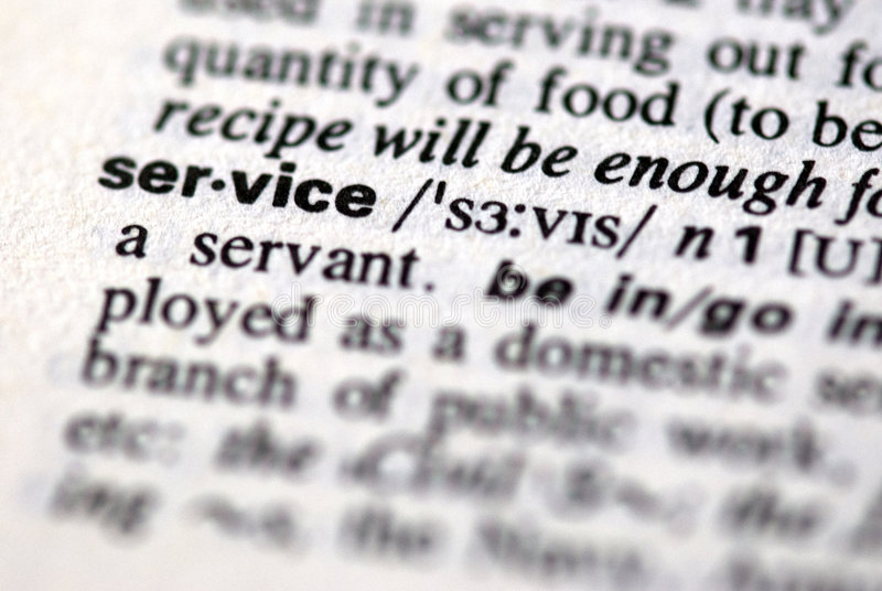 The word service royalty free stock photo