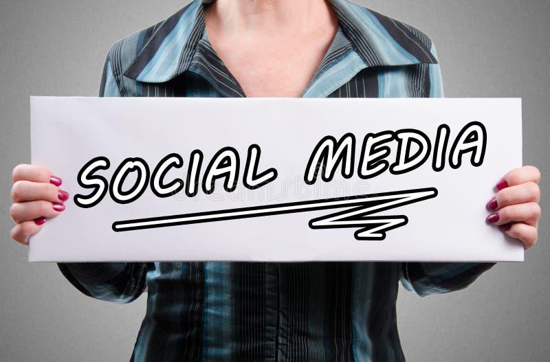 Word sociale media op een wit teken royalty-vrije stock afbeelding
