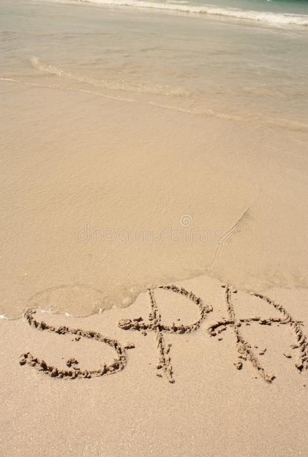 Download Word SPA on the beach stock photo. Image of ocean, shape - 25102632