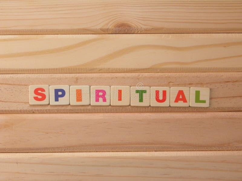 Word Spiritual på trä royaltyfria bilder