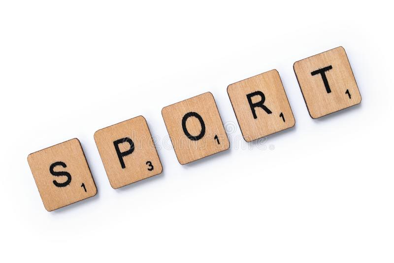 The word SPORT royalty free stock photos