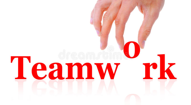 Word Teamwork And Hand Stock Photography