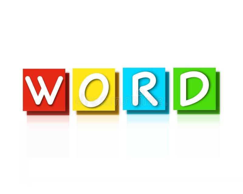 Word teken, super kwaliteits abstracte bedrijfsaffiche stock illustratie