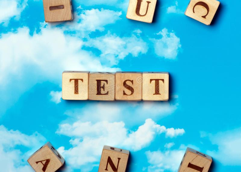 The word Test stock photography