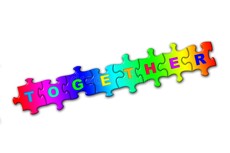 Word Together from puzzles stock images