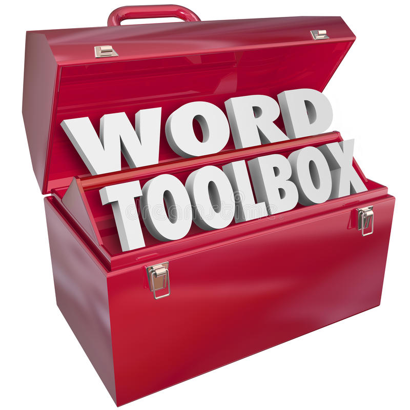Word Toolbox Teaching Tools Resources Spelling Reading Lesson Ai stock illustration