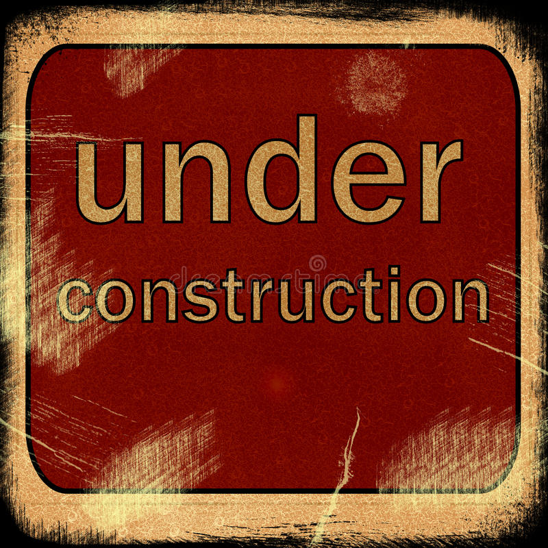 Word UNDER construction royalty free illustration