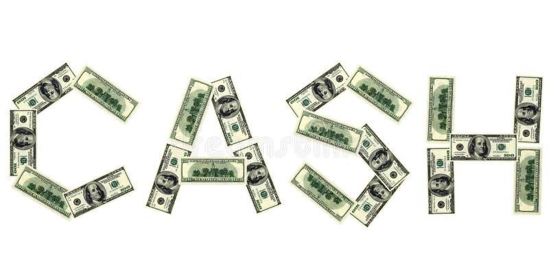 Word van contant geld van dollar vector illustratie