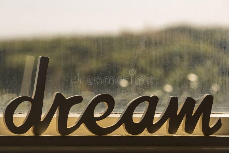 Word van de droom stock fotografie