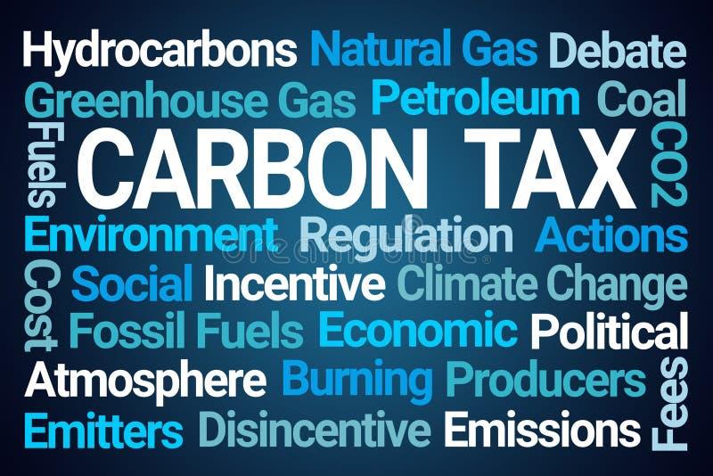 Word van de koolstofbelasting Wolk stock illustratie