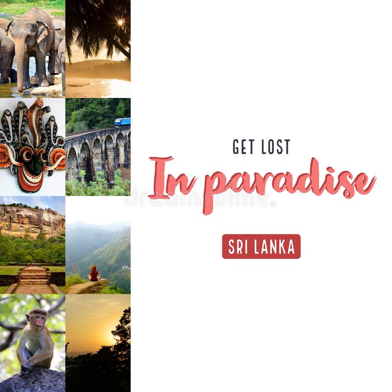 Word verloren in paradijs stock illustratie