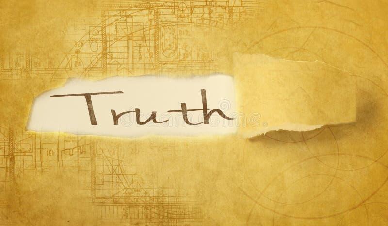 Word waarheid vector illustratie