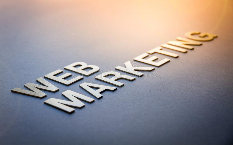 Word web marketing written with white solid letters royalty free stock photos