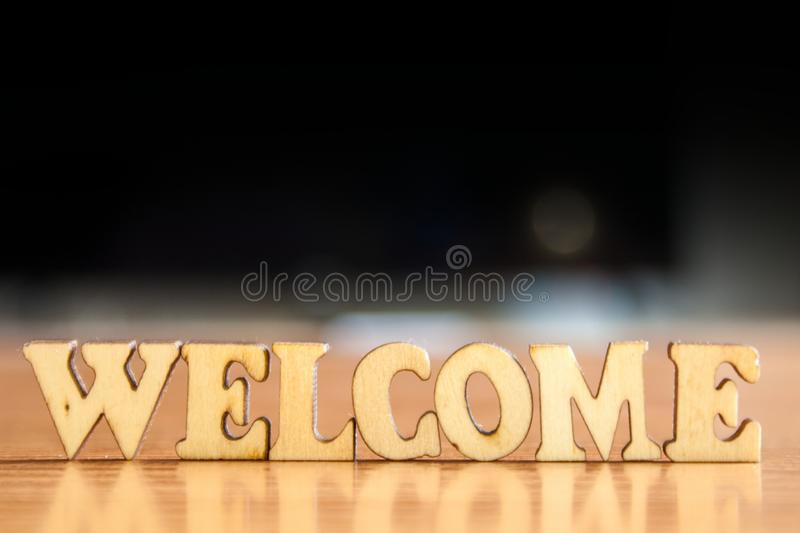 Word welcome royalty free stock images