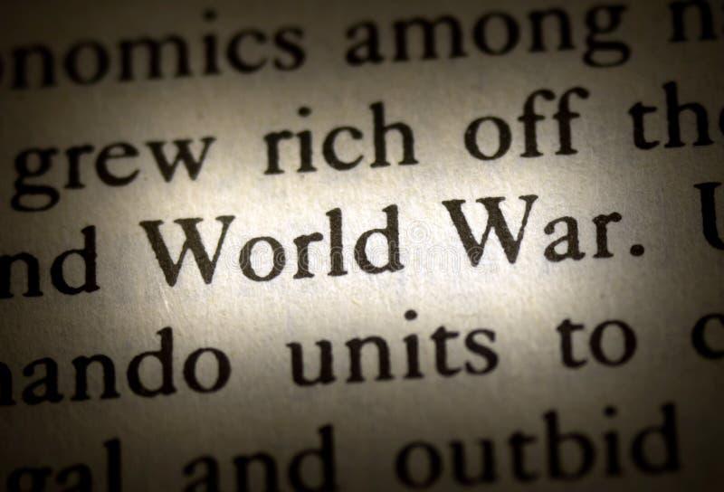 Word wereldoorlog royalty-vrije stock foto