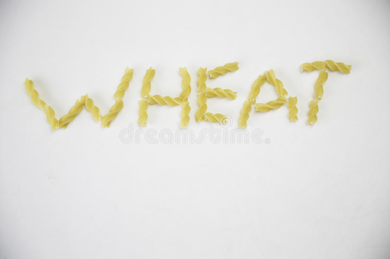 The word wheat stock image