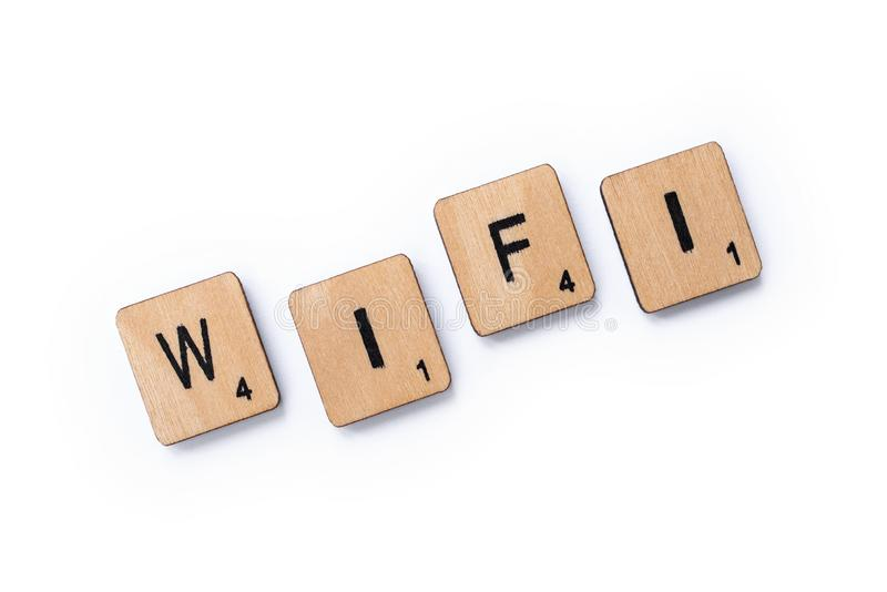 The word WIFI stock images