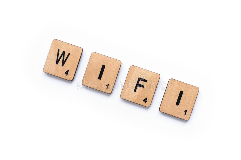 The word WIFI stock photography
