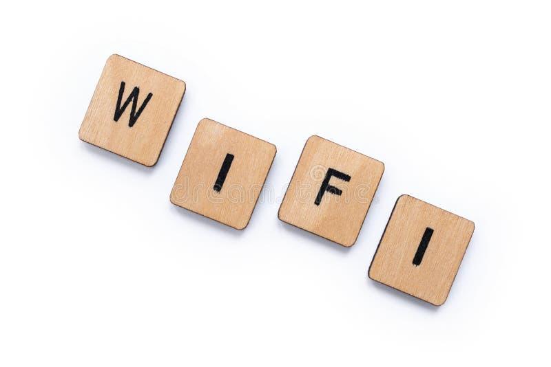 The word WIFI stock image