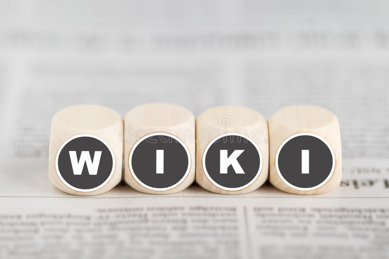 The Word Wiki On Cubes Stock Illustration - Image: 95799441