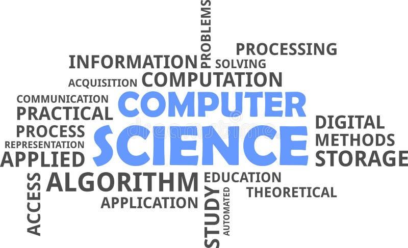 Word wolk - computerwetenschap royalty-vrije illustratie