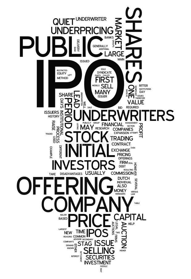 Word Wolk IPO royalty-vrije illustratie