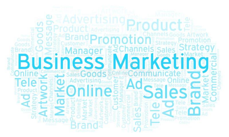 Word wolk met tekst Bedrijfs Marketing stock afbeelding