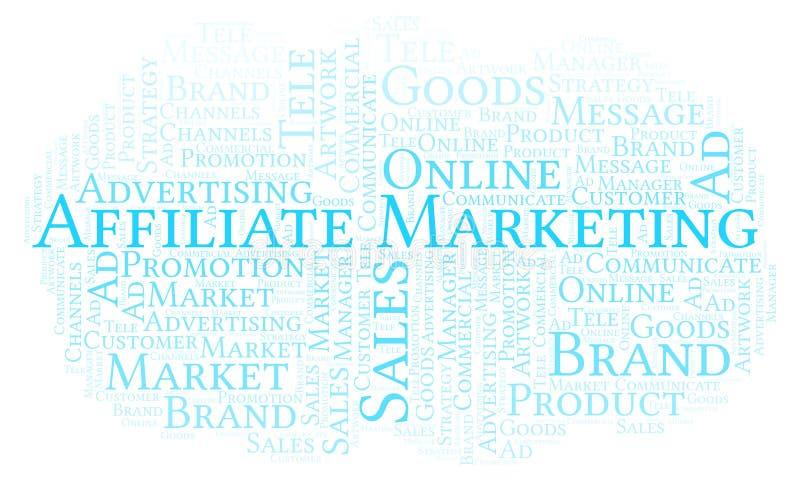 Word wolk met tekstfiliaal Marketing royalty-vrije illustratie
