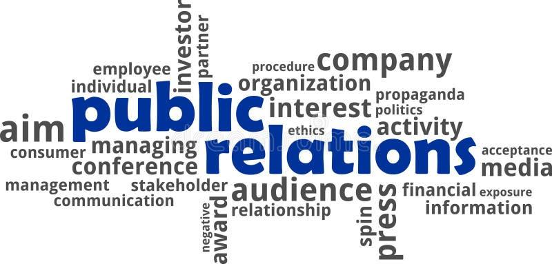Word wolk - public relations royalty-vrije illustratie