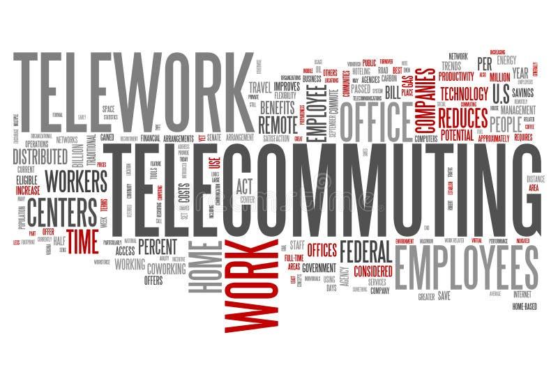 Word Wolk Telewerk stock illustratie