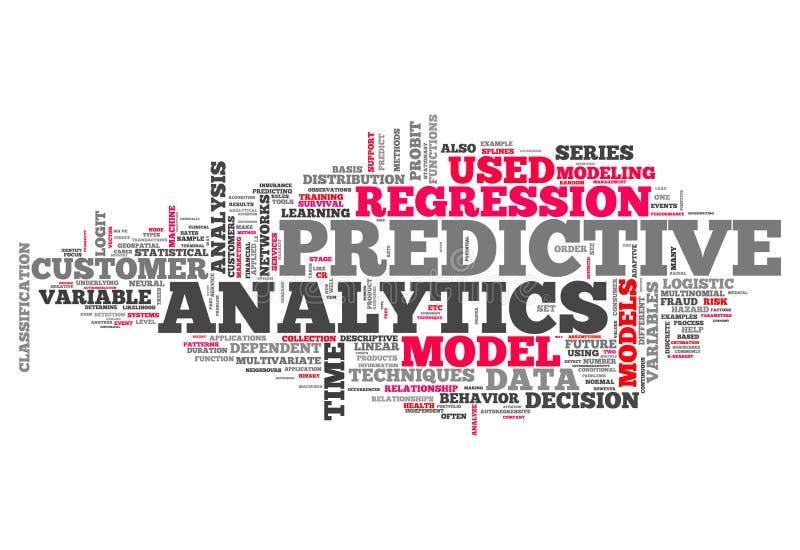 Word Wolk Vooruitlopende Analytics vector illustratie