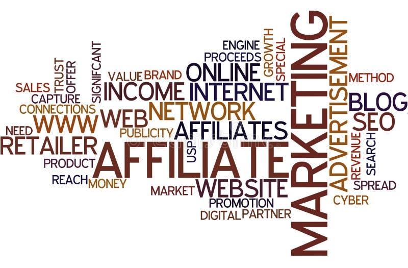 Word wolkenfiliaal marketing vector illustratie