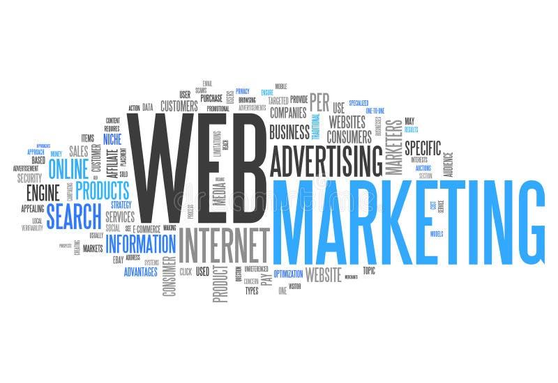 Word Wolkenweb Marketing royalty-vrije illustratie