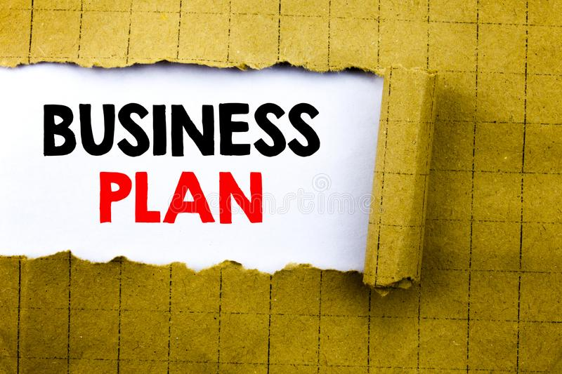 Word, writing Business Plan Planning. Business concept for Preparation Project Strategy written on white paper on the yellow folde. Word, writing Business Plan royalty free stock image
