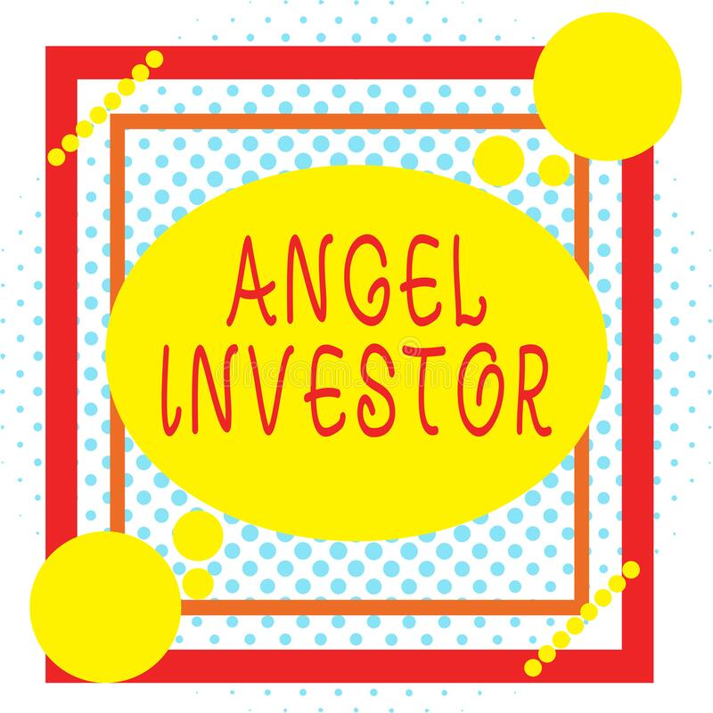 Word writing text Angel Investor. Business concept for high net worth individual who provides financial backing Asymmetrical stock illustration
