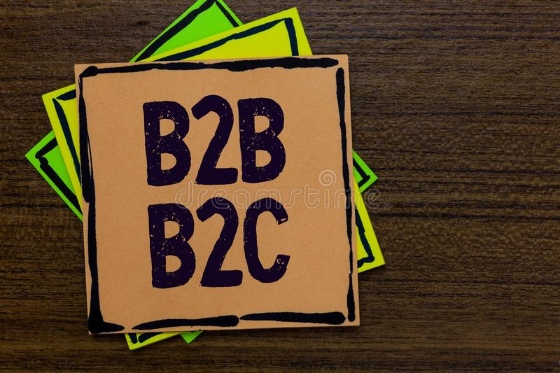 Word writing text B2B B2C. Business concept for two types for sending emails to other people Outlook accounts Paper notes Importan. T reminders Express ideas stock images