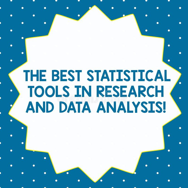 Word writing text The Best Statistical Tools In Research And Data Analysis. Business concept for High quality app Fourteen 14. Pointed Star shape with Thin stock photos