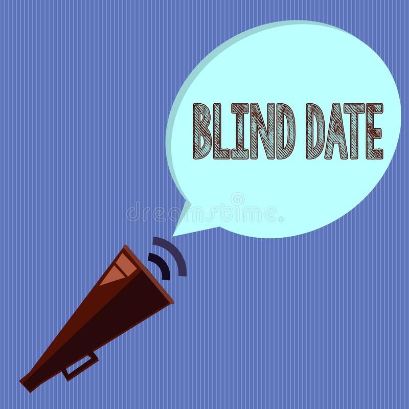 Word writing text Blind Date. Business concept for Social engagement with a demonstrating one has not previously met.  royalty free illustration