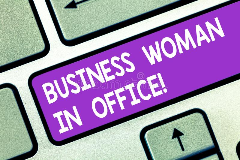 Word writing text Business Woanalysis In Office. Business concept for Female power Feminine empowerment Leader women royalty free stock photo
