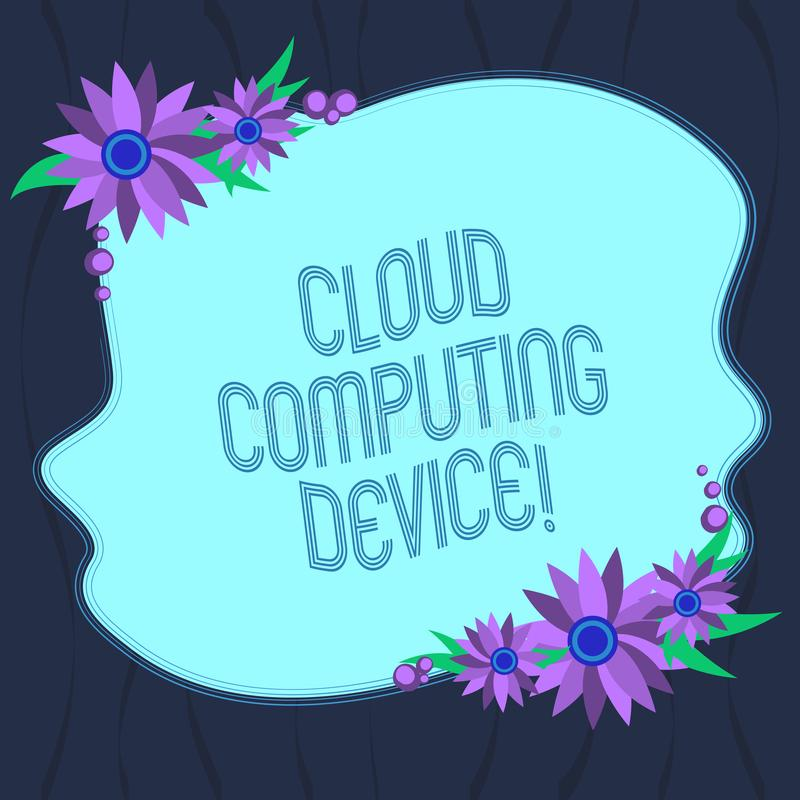 Word writing text Cloud Computing Device. Business concept for Shared pools of configurable computer system resource Blank Uneven royalty free illustration