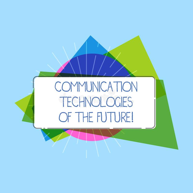 Word writing text Communication Technologies Of The Future. Business concept for Modern innovative social media apps Rectangular stock images