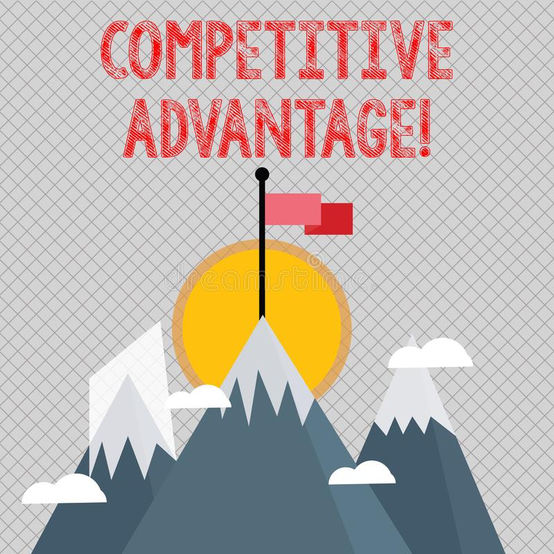 Word writing text Competitive Advantage. Business concept for owning quality that will assure you leading in field. Word writing text Competitive Advantage vector illustration